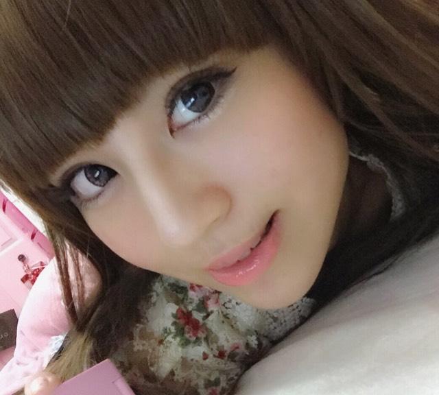 ナチュラルデカ目メイク☆前髪ウィッグ装着