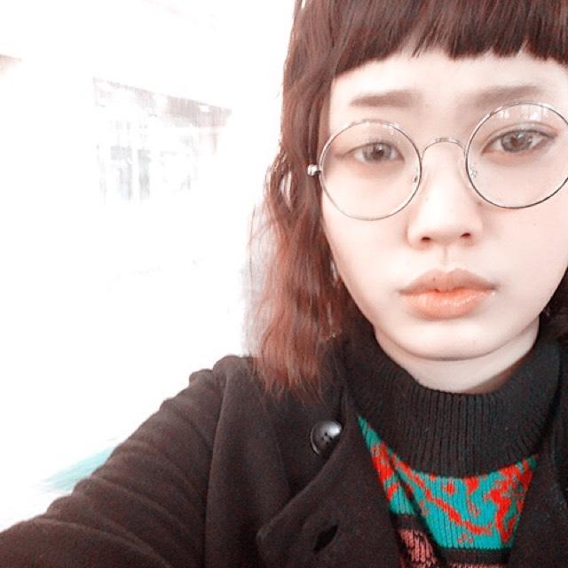 丸メガネー♡