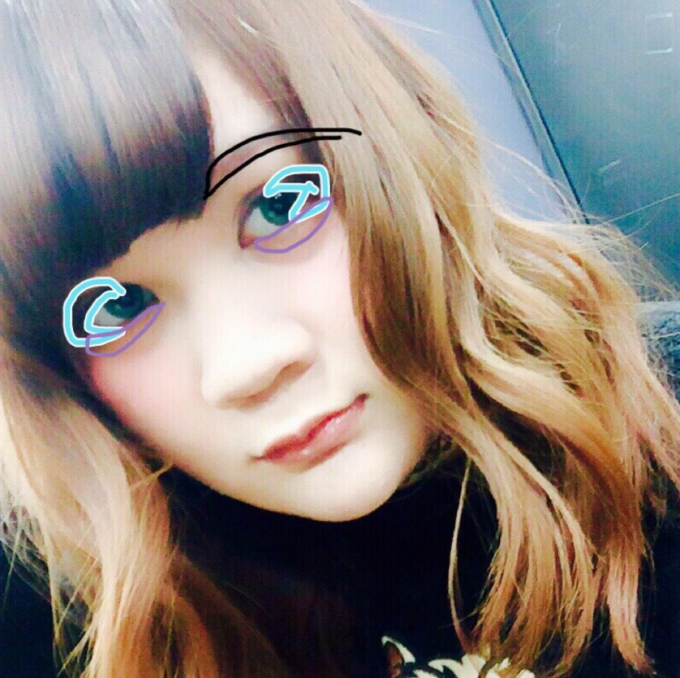 ③→上瞼黒目上からタレ目風に下瞼の黒目下あたりまで。 ④→下瞼の涙袋あたりに優しくのせる。涙袋を作るといあよりかは華やかさを加える感じに(ง˘ω˘)ว  眉毛はタレ眉意識してください