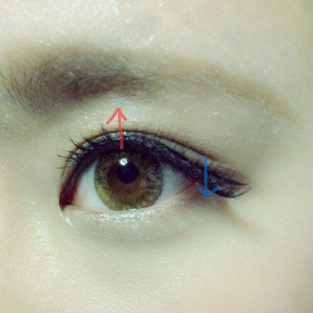 つけまはdiamondlashのシークレットアイをフルで使ってます!目尻側を下げて目の中心部分をあげるとなんとなくタレ目風に…