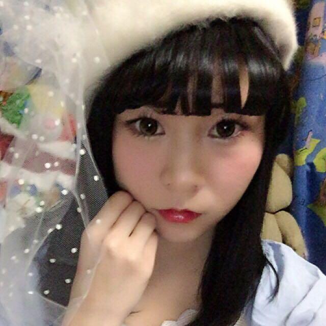 前髪を下ろして ベレー帽で ゆめかわチャンの完成☆(◜௰◝)