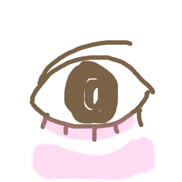 STEP1 「涙袋の土台をつくる」 ピンクの部分に自分の肌にあったコンシーラーをのせます