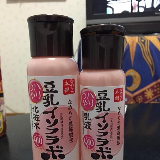 化粧水、乳液で肌を整えます(≧∇≦)