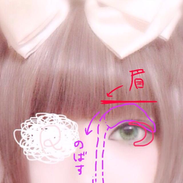 眉は細ければお好みでどうぞ 但し直線の方がデカ目効果があります まゆを書き終えたら紫で囲った範囲にアッシュブラウン(薄)を乗せノーズシャドウに繋げて下さい その後赤の範囲に濃いブラウンを重ねます