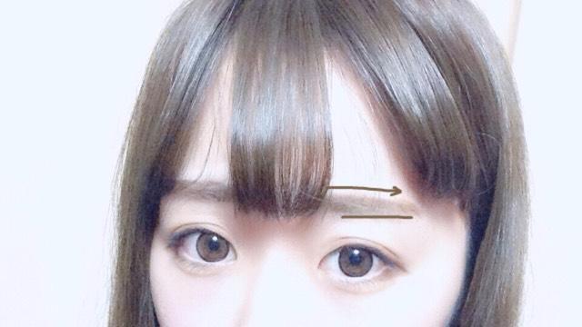 オルチャンの眉毛は太く!平行に!がポイントです(^.^) 書きやすいポイントとして最初に上ラインと下ラインに直線の平行線を書くといいです!
