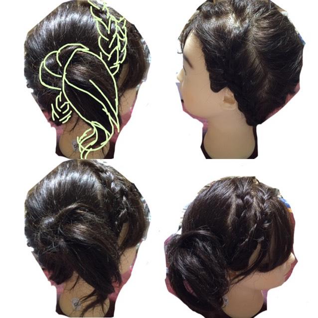 まとめ髪のトップ画像