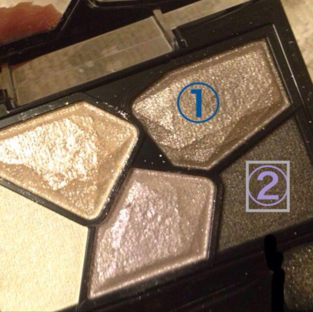 ケイト・カラーシャスダイヤモンドBK-1の 2色を使用!