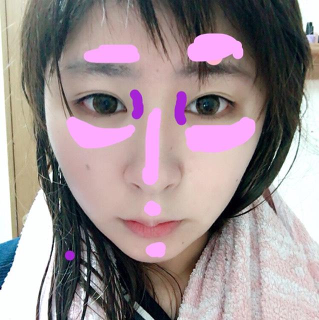 ピンクのところをexcel 紫のところをaddctionでハイライトを♡♡ これだけですっごくツヤ肌、透明感に仕上がります♡♡