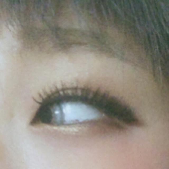 目尻もブラウ~ン濃いめ濃いめ〜