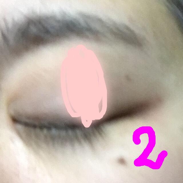 次に真ん中くらいに薄めに塗って 横のピンクを淡く見てます