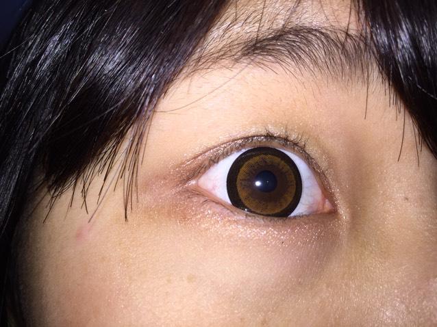 カラコンレポ シークレットキャンディーマジックNo.3ブラウンのAfter画像