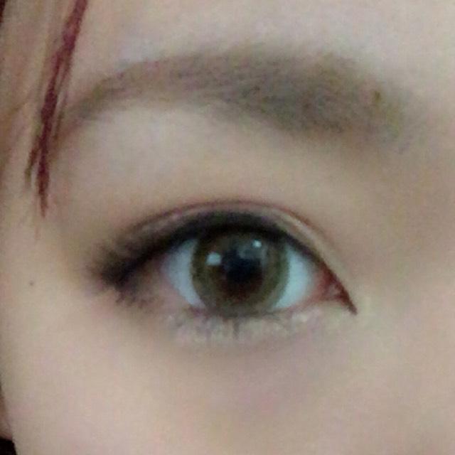 でか目丸目メイク(そのまま)のAfter画像