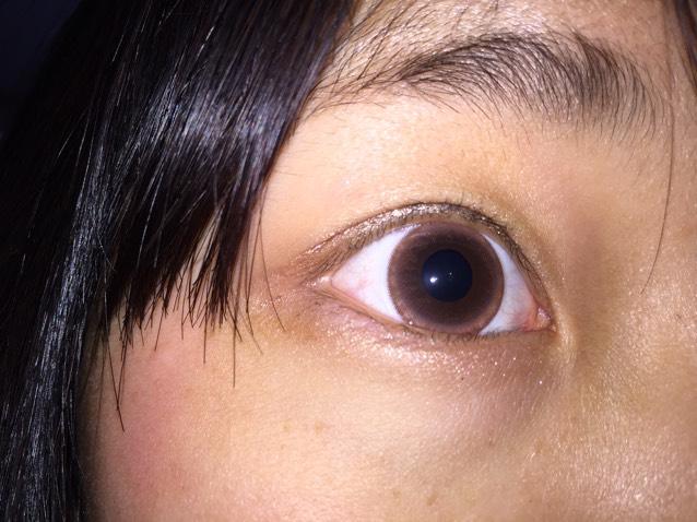 フラッシュをたくと本来の瞳が綺麗にカメラに映りました◡̈♥︎