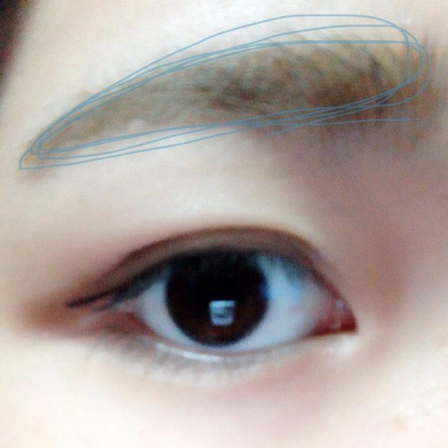 眉毛は③のアイブロウマスカラで書きます。