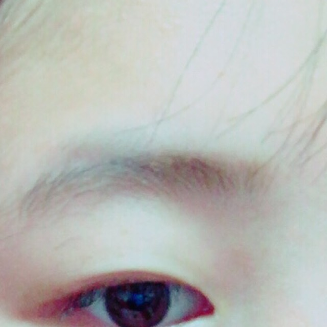 マフラーでちょい顎隠し/眉毛の描き方!のBefore画像