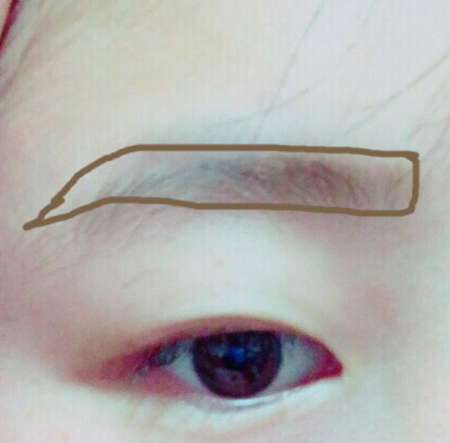 眉毛は真っ直ぐになるように心がけます! こうする事で印象かわります!