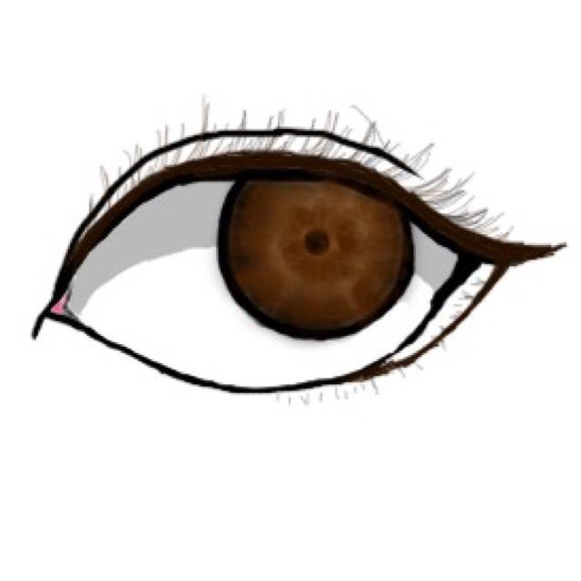 下瞼に三角を書くイメージで1本ラインを引きます。タレ目にしたいので、この白い空間を大きく取ればとるほどたれ目になりますが、程々に!
