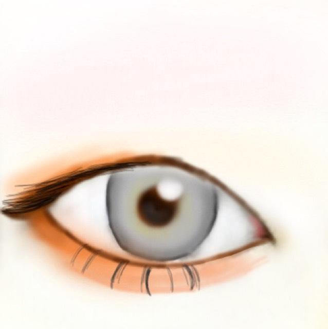 マスカラをします。 今回はわかりやすく黒で描いていますが、ハニちゃんはブラウンのマスカラをしています!したまつ毛は束感が出るようにします