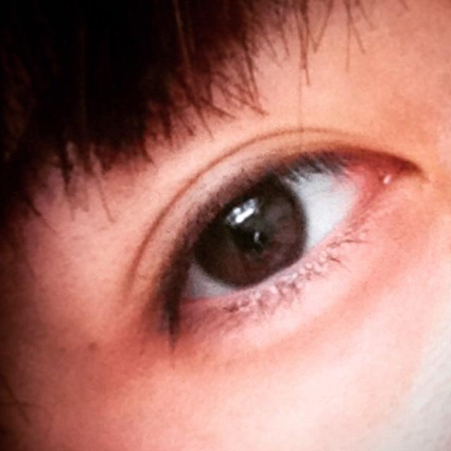 ダークブラウンヘアでも似合うカラーメイク☆のBefore画像