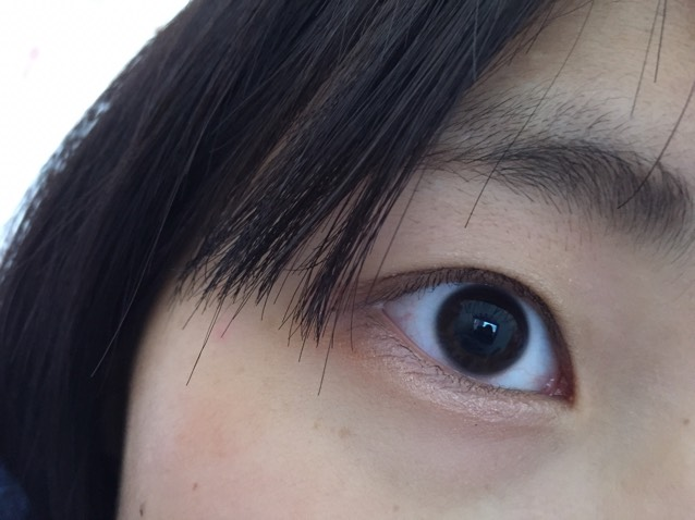 カラコンレポ バンビシリーズ チョコレート⁽⁽ଘ( ˊᵕˋ )ଓ⁾⁾のBefore画像