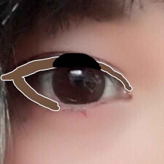 アイライン黒 上瞼の黒目の部分にだけ引く