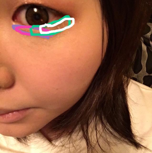 〜下瞼〜 こちらも写真のようにのせます。
