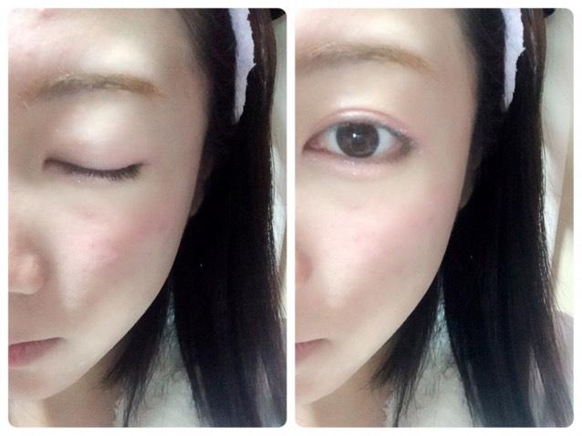 目のキワと目の下目尻に濃いめのブラウンシャドウ、上まぶたの二重幅と目の下にピンクシャドウをのせ、その上から軽くハイライトをのせます。 ペンシルタイプのブラウンシャドウで目の下に涙袋を書いてください。