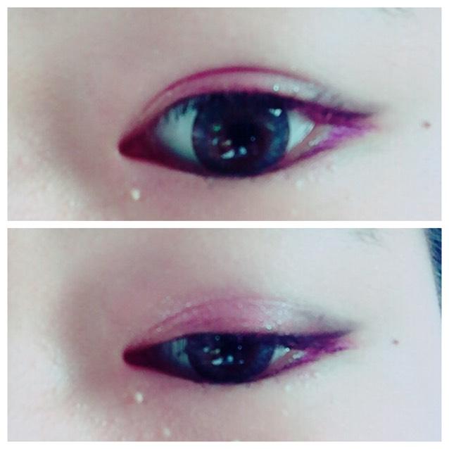 ピンク×紫カラーメイク