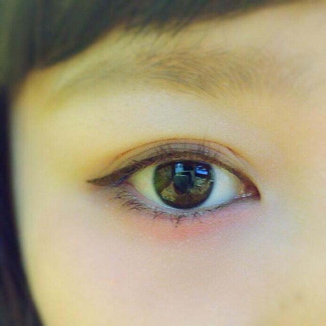 目の下赤チークの青文字系メイクのAfter画像