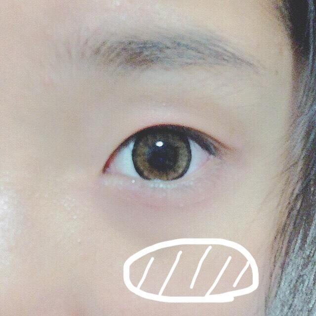 頬骨あたりに、①でぬった色(ピンクならピンク)に近い色をぬる!♡