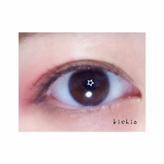 こんな感じ  +αで、目頭の下まぶた側にbをいれると一層赤が引き立つ
