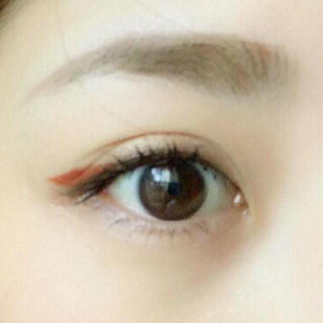 ワンポイントカラーメイク♡オレンジ編のAfter画像