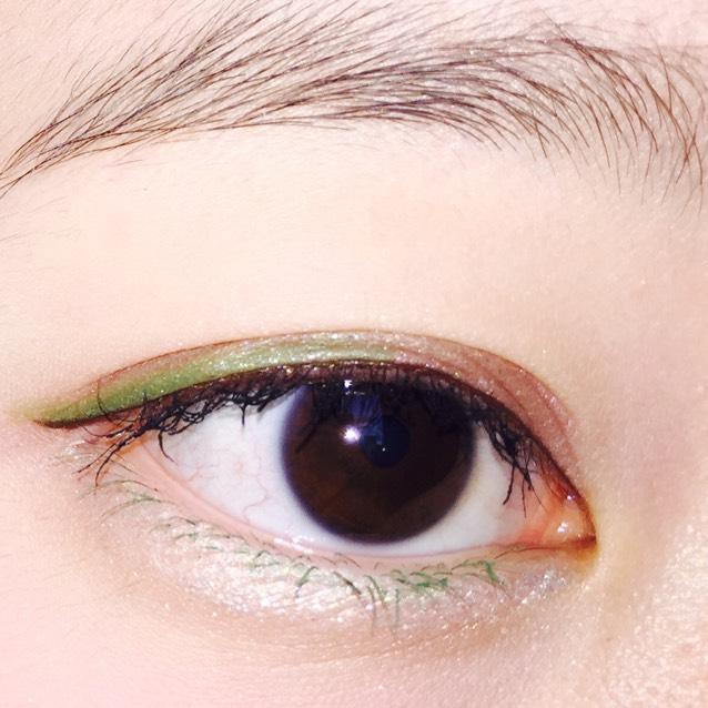 《裸眼.グリーン》春カラーメイク*
