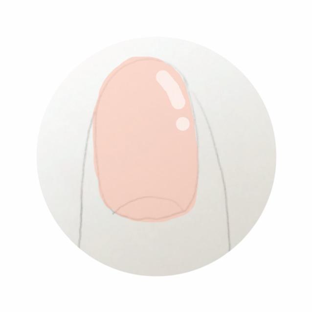 綿棒にリムーバーを少量含ませて、 爪のほこりや甘皮を優しくこすっておとす  強くやらないこと‼︎  やりすぎは逆剥けや細菌感染の原因になります  爪が綺麗になったら、 ベージュのマニキュアを二度塗りします