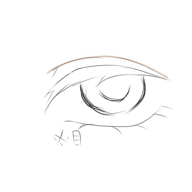 自分はもっと二重の所に立体感を出したかったので 色々試した中自分では 眉毛を書くペンシルとブラウンアイライナーが一番やりやすかったので 二重のとこに重ねるように書きます