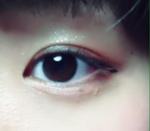 裸眼 赤×オレンジメイクのAfter画像