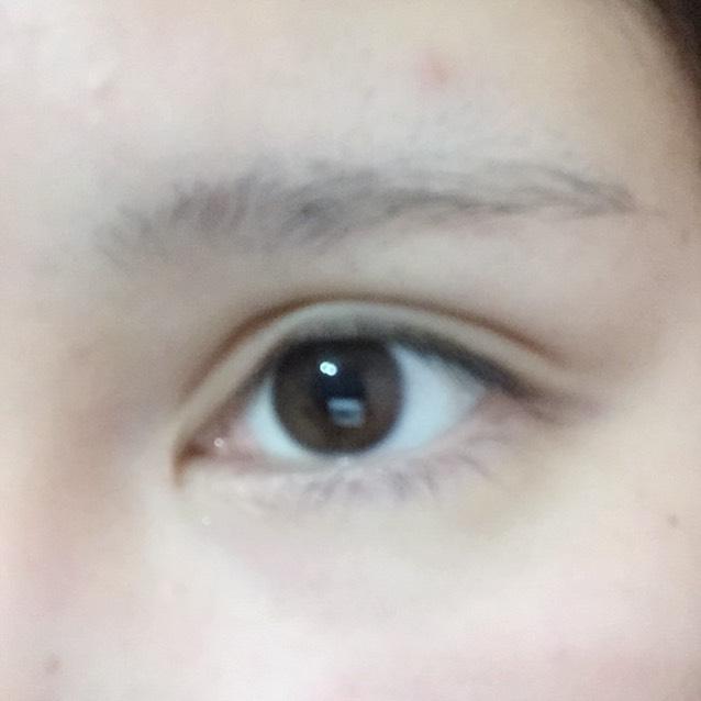 淡眉のBefore画像