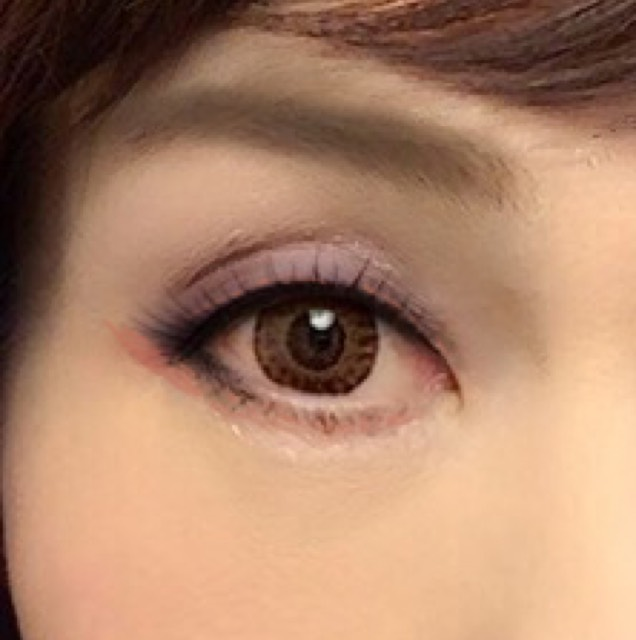 桜色のアイメイクのAfter画像