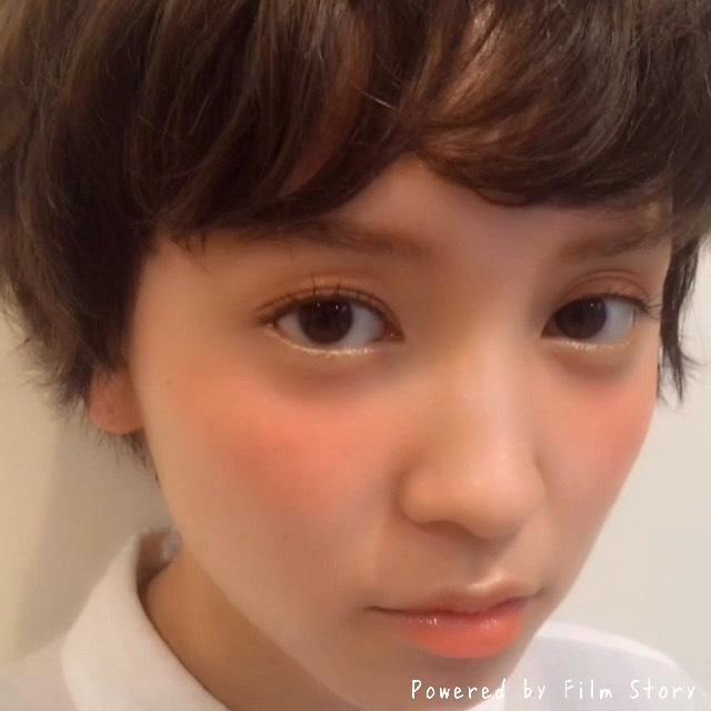 パステルメイク♡イエロー×オレンジのAfter画像