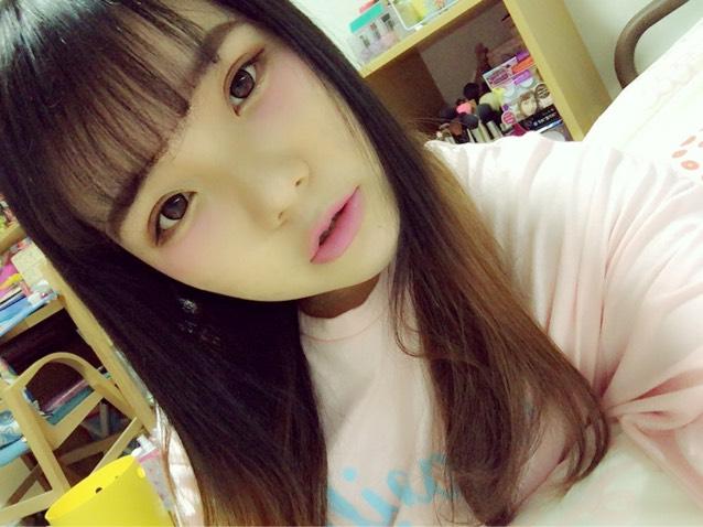 春色青みピンクメイクのAfter画像
