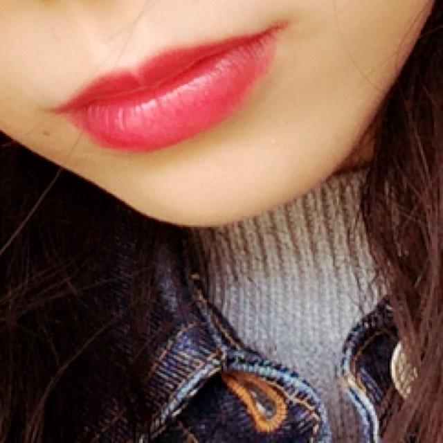 粉紅色的嘴唇