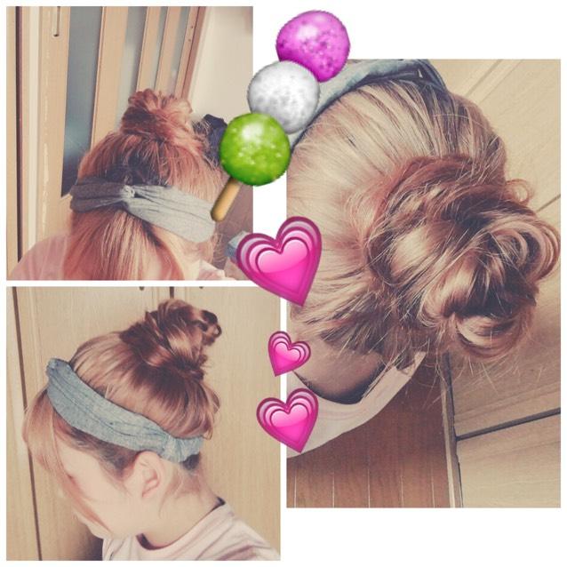 お団子hair
