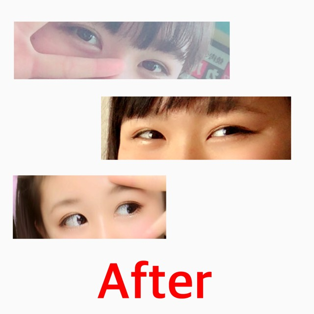 Everyday make/Eyes(裸眼)のAfter画像