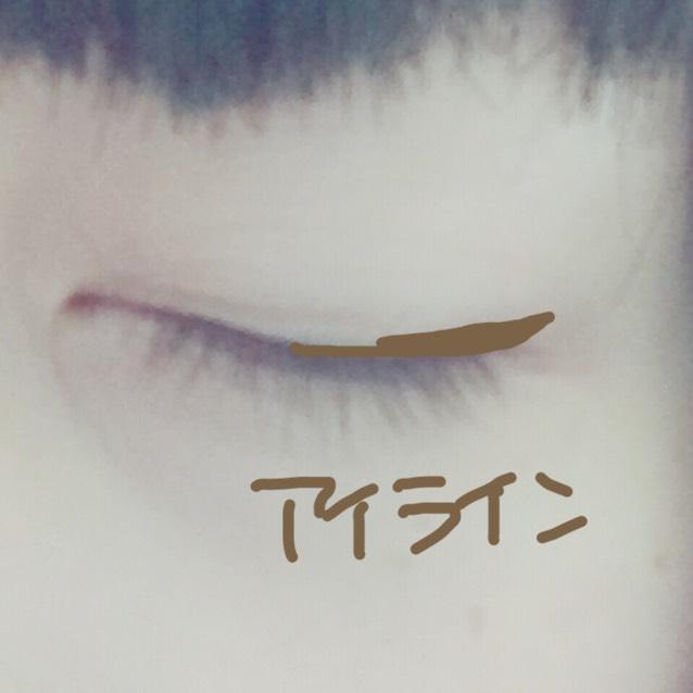 イメージとしてはこんな感じ!ブラックよりもブラウンがオススメそして目尻だけに。 粘膜は埋めない。