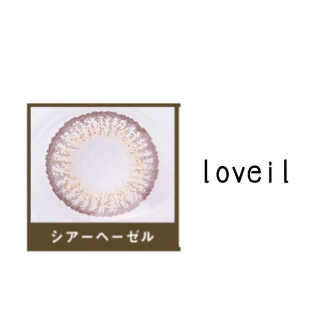 使用したカラコン loveilのシアーヘーゼル