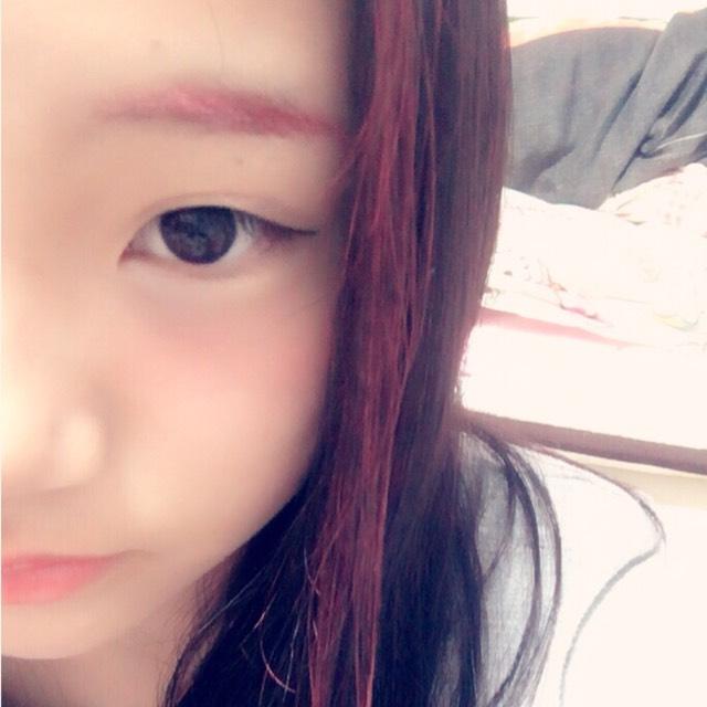 赤メインメイク(半顔)のAfter画像