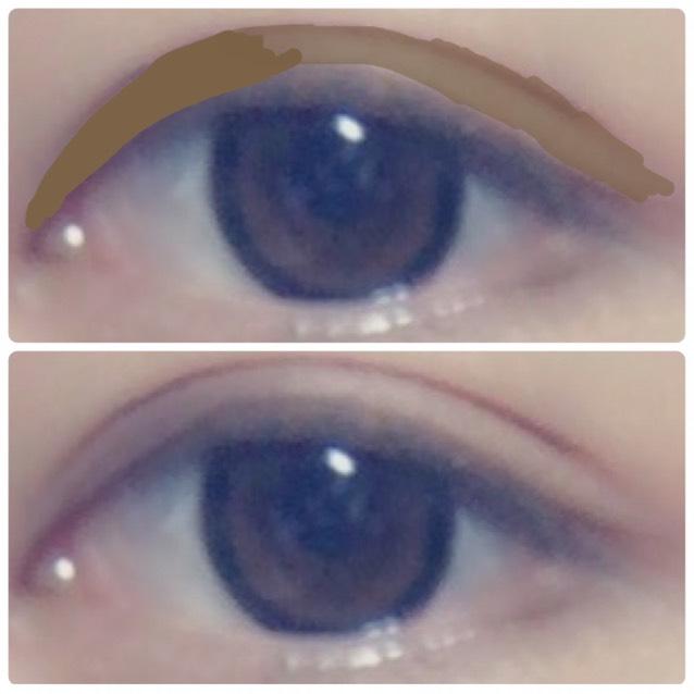 涙袋を書いた後、茶色のアイシャドウで目頭が濃くなるようにする。