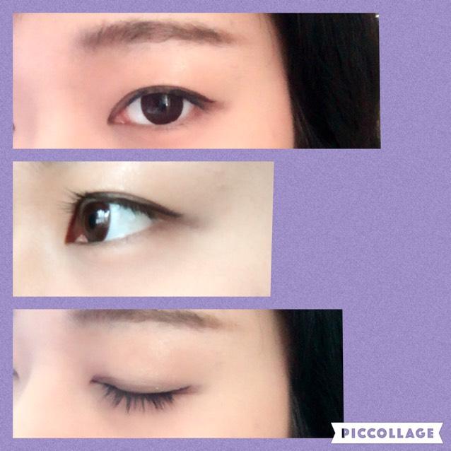今日の目メイク(14.5カラコン)