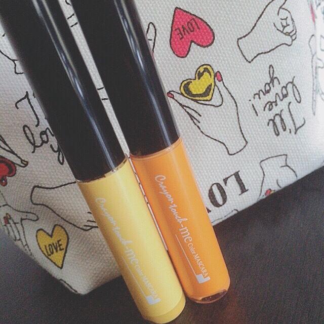 私が今回使ったマスカラはCan Doで売ってたものです。今回はイエローとオレンジです( * ˊᵕˋ )