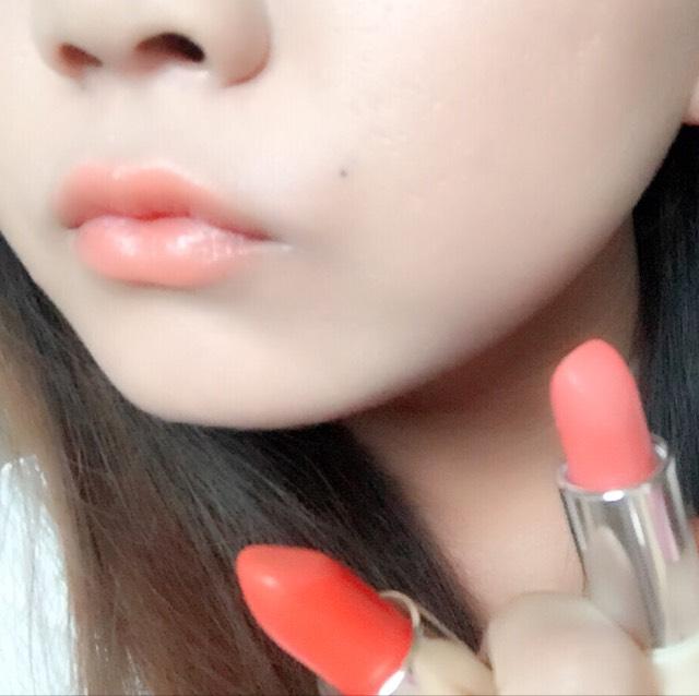 オレンジリップ/kiss me × ちふれのBefore画像